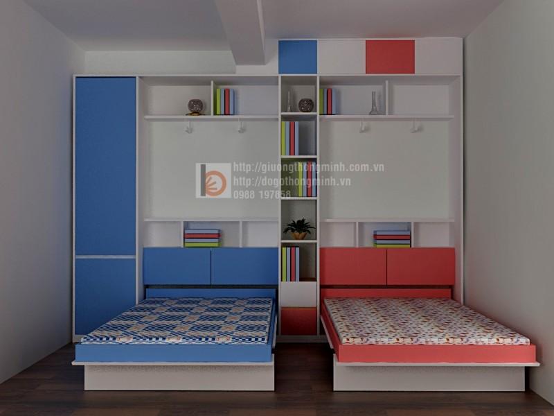 giường thông minh cho hai bé