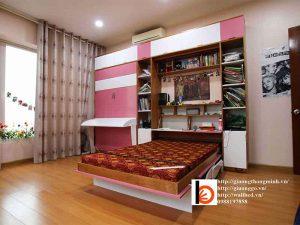 giường thông minh kết hợp với bàn học