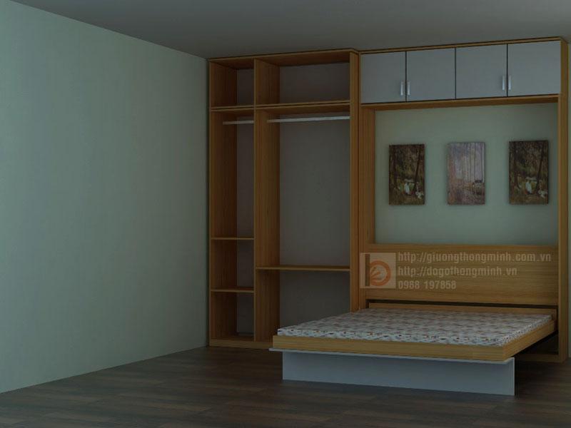 giường tủ thông minh cho phòng ngủ