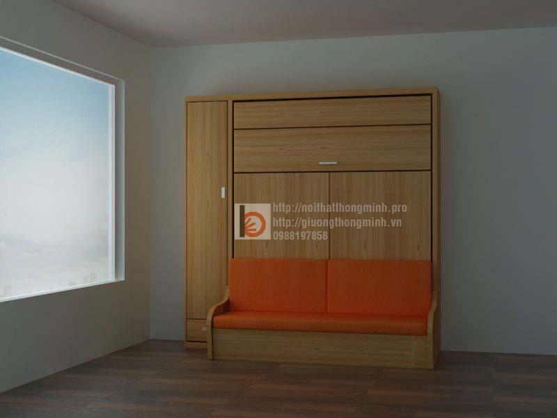 ghế giường thông minh bằng gỗ Sồi Mỹ