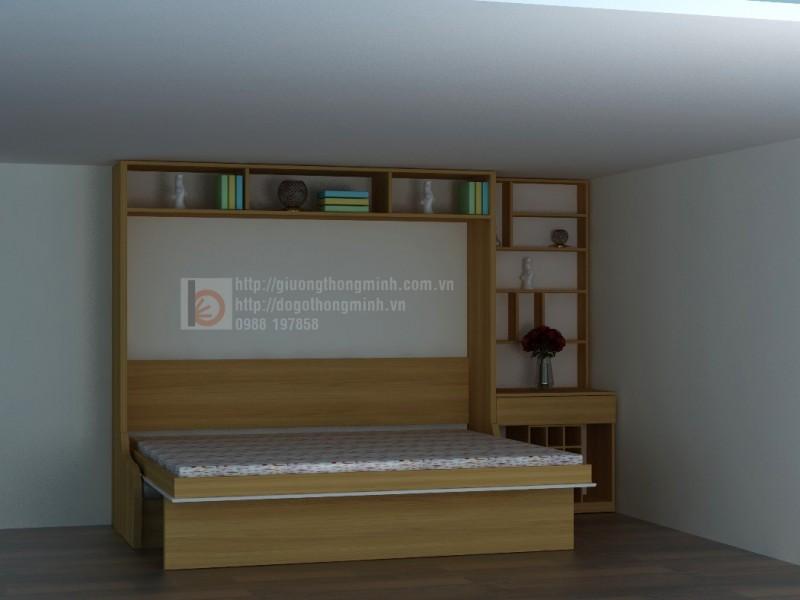 giường ghế gấp thông minh gỗ tự nhiên