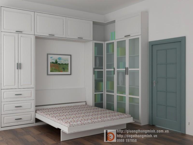 giường ngủ thông minh gỗ tự nhiên