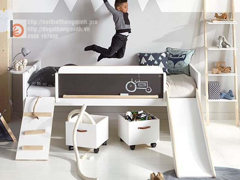 mẫu giường tầng thông minh