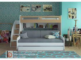giường tầng đa năng thông minh cho 2 bé