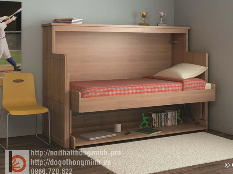 giường gấp thông minh kết hợp bàn học