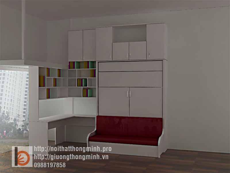 giường thông minh kết hợp sofa