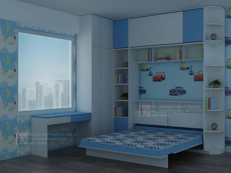 giường tủ thông minh cho bé