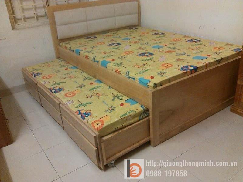 giường kéo 2 tầng cho bé