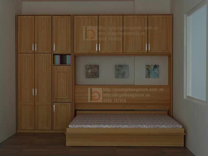 mẫu giường tủ thông minh
