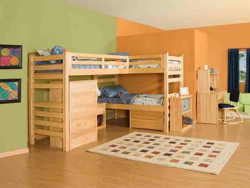 giường tầng thông minh cho 2 bé