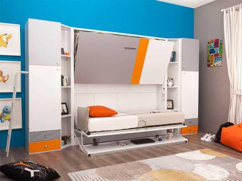giường gấp thông minh kết hợp tủ quần áo