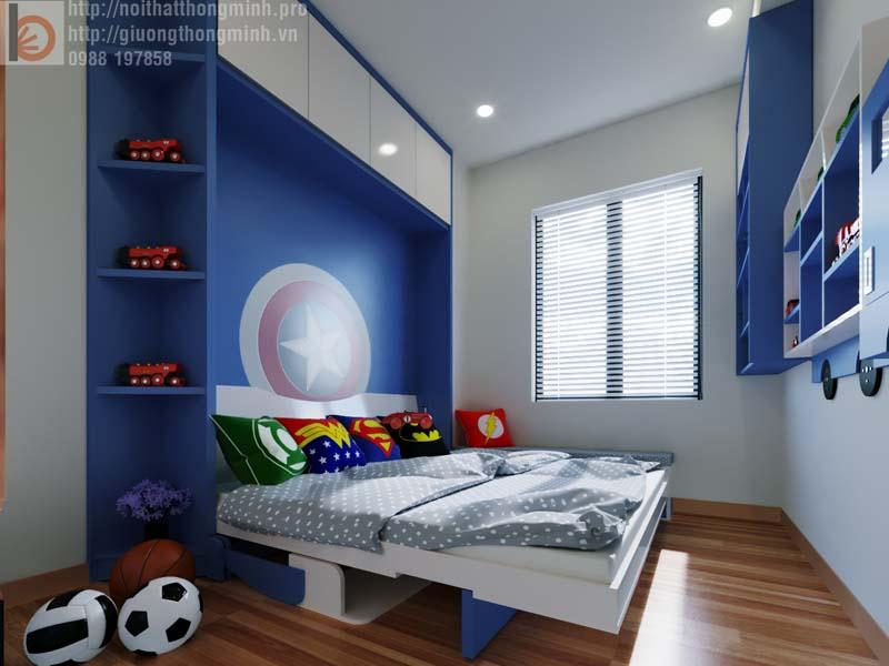 giường thông minh cho bé trai