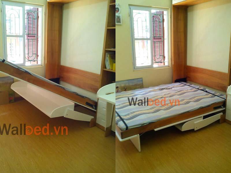 giường ngủ thông minh cho hai bé