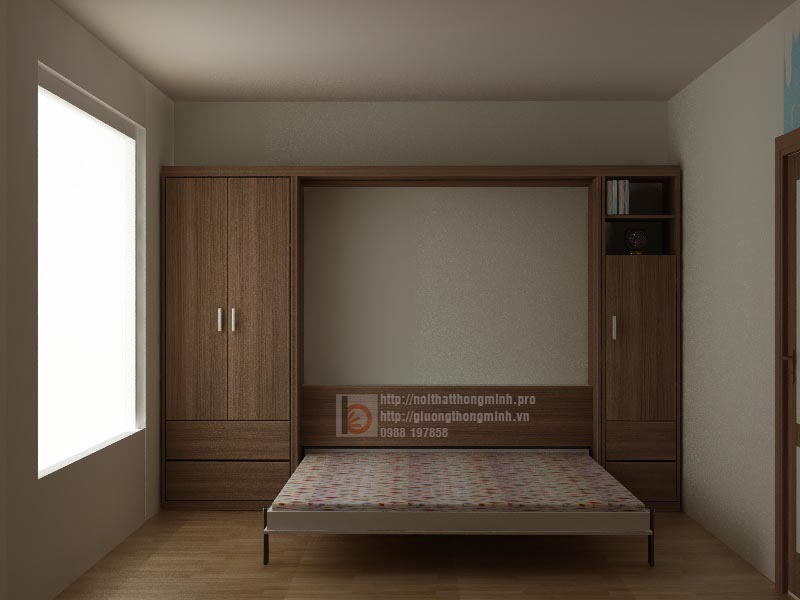 mẫu giường gấp thông minh