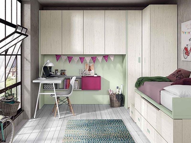 giường tầng kết hợp hệ tủ