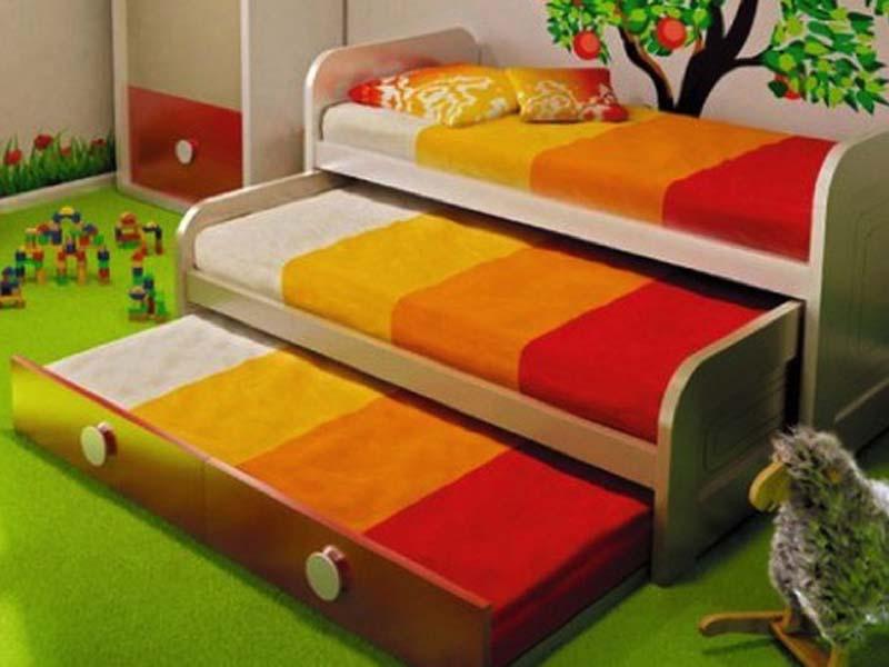 giường kéo 3 tầng