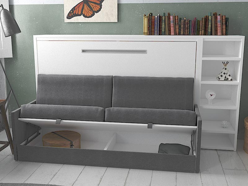 ghế giường gỗ thông minh gấp ngang