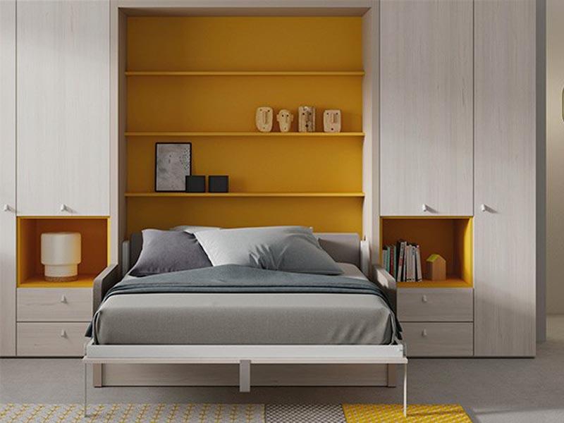 mẫu giường thông minh kết hợp tủ quần áo
