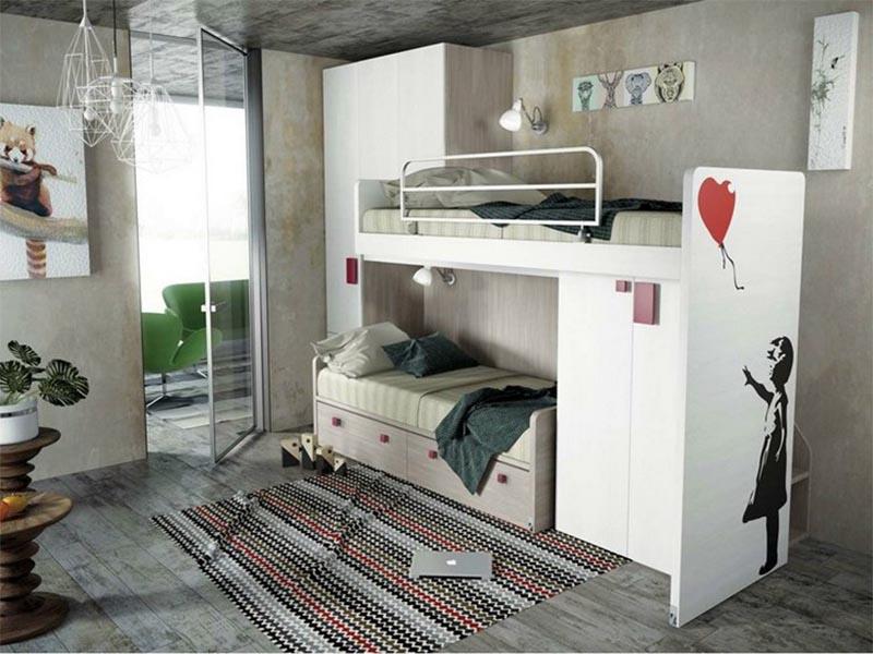 kiểu giường tủ đa năng
