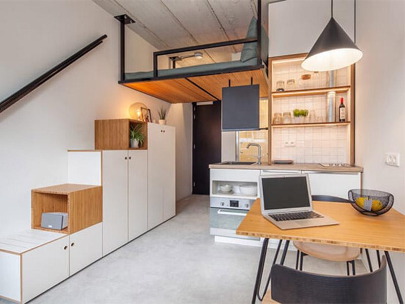Nội thất căn hộ nhỏ độc đáo và hiện đại dành cho người trẻ