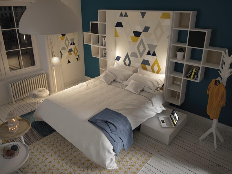 giường gấp thông minh cho phòng ngủ nhỏ