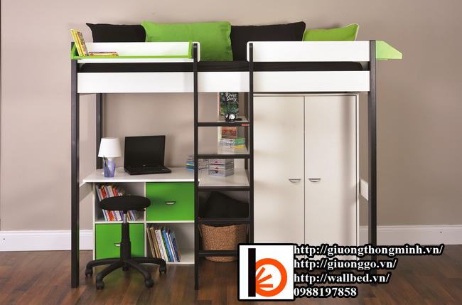 giường tầng thông minh kết hợp bàn học