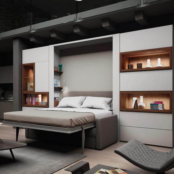giường gấp thông minh kết hợp sofa