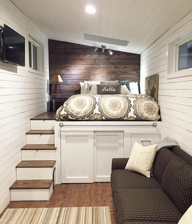 phòng ngủ nhỏ tiện dụng